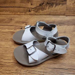 Sun-San Surfer White leather sandals sz 5
